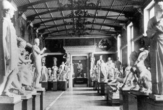 Plaster casts in Berlin's Neues Museum in 1877